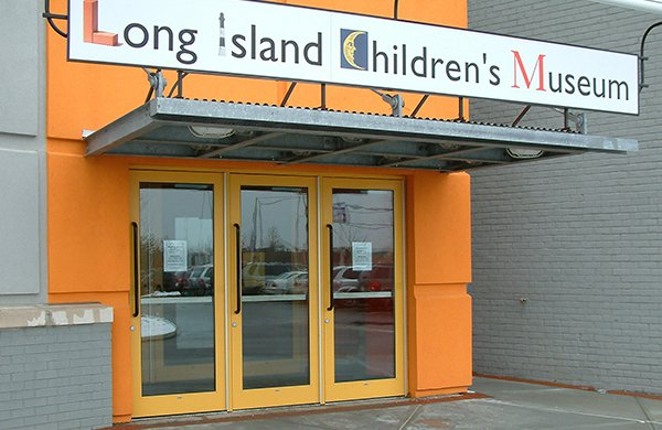 Main entrance of the Long Island Children's Museum.