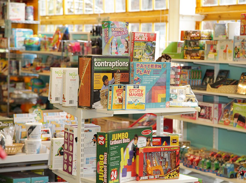 Exhibit-related games and toys available to purchase in Museum Store