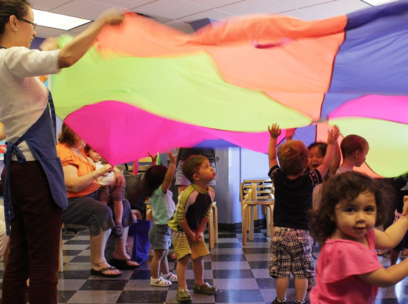 Little ones move to the beat while staying active in our popular Music and Movement class.